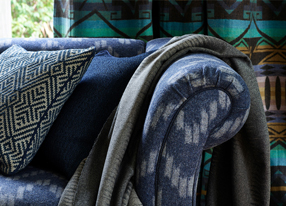Designer fabrics for curtains and home upholstery