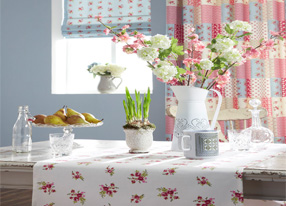 Decoupage Powder Blue Fabrics & Wallpapers