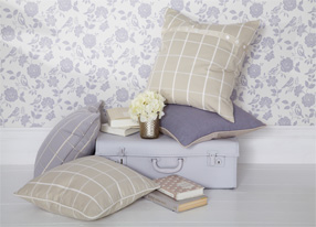 Henley Lavender Fabrics & Wallpapers