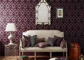Imperio Grape Fabrics and Wallpapers