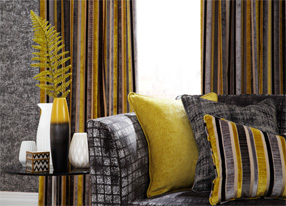 Imperio Steel Fabrics and Wallpapers