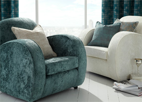 Imperio Teal Fabrics and Wallpapers