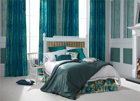 Piazza Azure Fabrics & Wallpapers