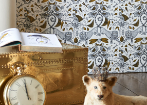 Emma J Shipley for Clarke and Clarke Animalia Wallpapers