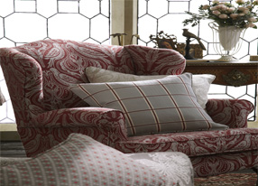 Country Manor Ruby Fabrics & Wallpapers