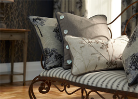 Meadow Charcoal Fabrics & Wallpapers