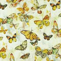 Butterfly Cloud Fabric - Pineapple