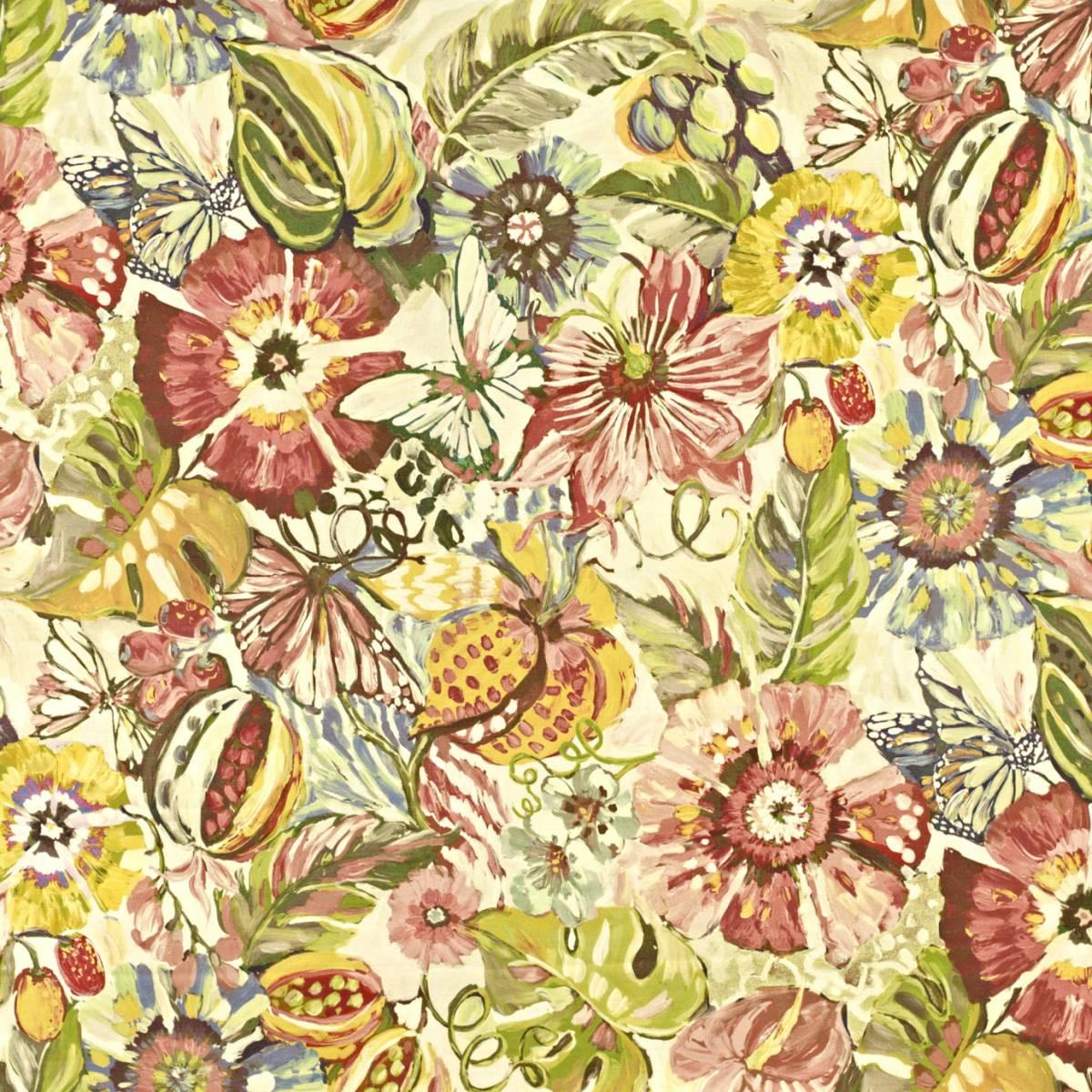 Tropical Garden Fabric Hibiscus 8569 264 Prestigious