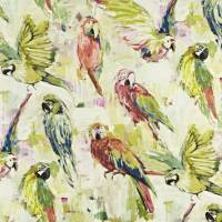 Macaw Fabric - Hibiscus