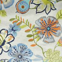 Passion Flower Fabric - Waterfall