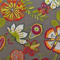 Passion Flower Fabric - Paprika
