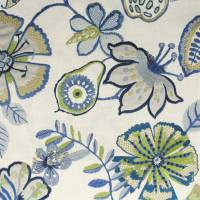 Passion Flower Fabric - Indigo