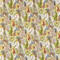 Lovebirds Fabric - Pebble