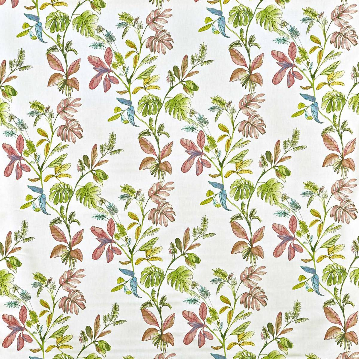 Woodlands fabric and interiors cotton poplin print fabric woodlands story fern kew fabric for Woodlands fabric and interiors
