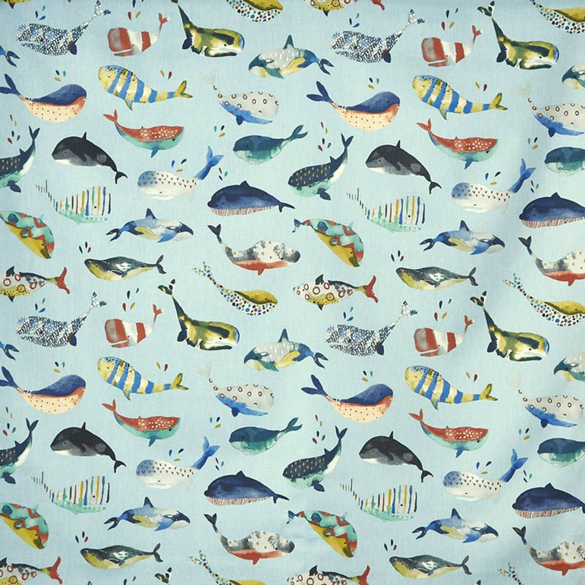 Whale watching fabric pacific 5036 701 prestigious for Whale fabric