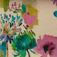 Painted Garden Fabric - Petunia