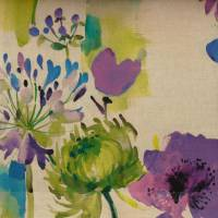 Painted Garden Fabric - Sapphire