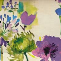 Painted Garden Fabric - Cobalt
