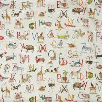 Animal Alphabet Fabric - Fudge