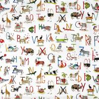 Animal Alphabet Fabric - Paintbox