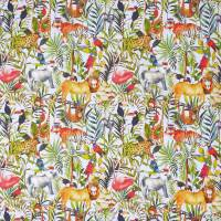 King of the Jungle Fabric - Waterfall