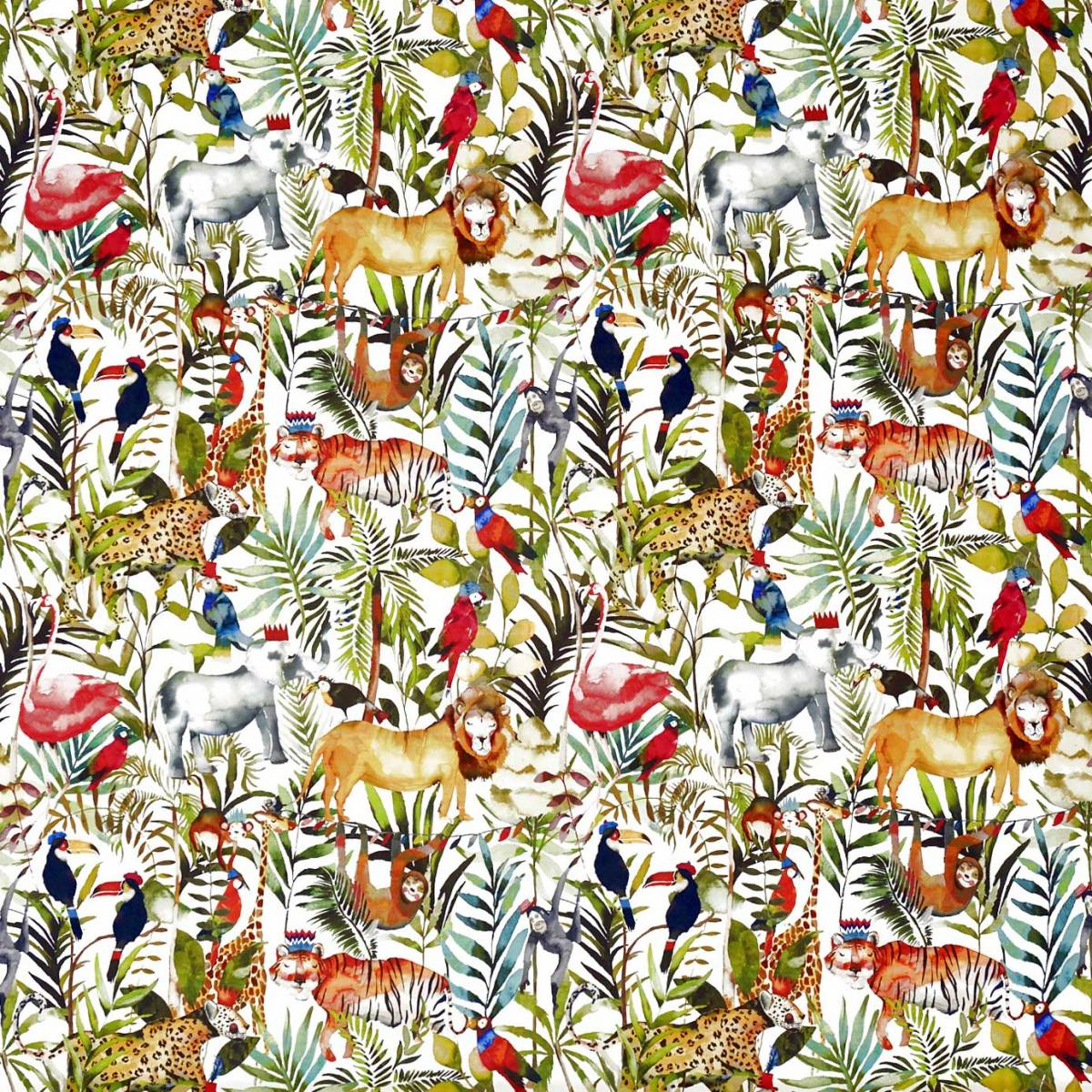 King Of The Jungle Fabric Safari 8630 677