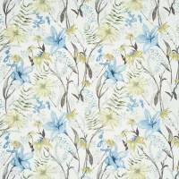 Roof Garden Fabric - Slate Blue
