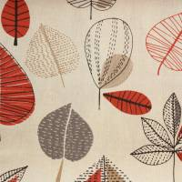 Maple Fabric - Red Berry