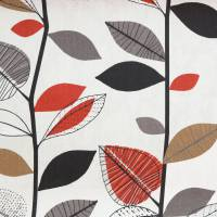 Autumn Leaves Fabric - Red Berry