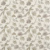 Lotus Flower Fabric - Washed Linen