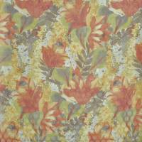 Waterlily Fabric - Sienna