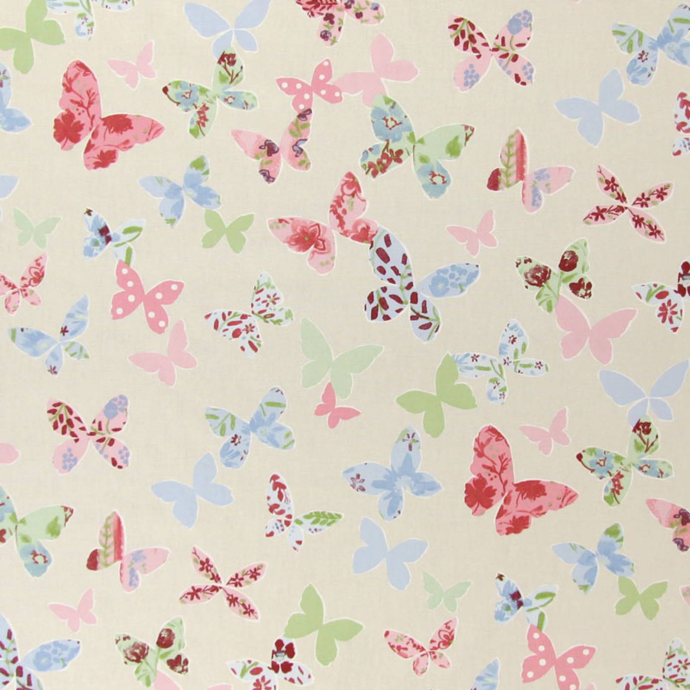 Butterfly Fabric Vintage 5860 284 Prestigious