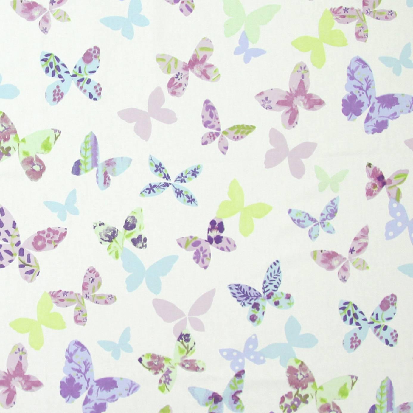 Butterfly Fabric Lavender 5860 805 Prestigious