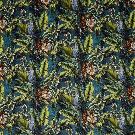 Prestigious Textiles Journey Beyond Fabrics Bengal Tiger Fabric - Twilight - 3799/954