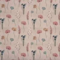 Flower Press Fabric - Rose Water