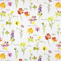 Wild Flowers Fabric - Watercolour