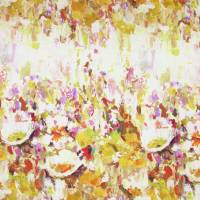 Flower Garden Fabric - Ochre