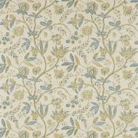 Solaine Fabric - Teal/Cream