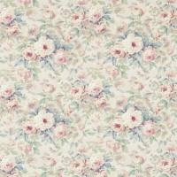 Amelia Rose Fabric - Wedgewood/Rose