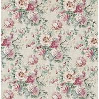 Giselle Fabric - Dove/Pink