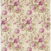 Giselle Fabric - Bordeaux/Olive