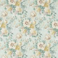 Giselle Fabric - Gold/Jade