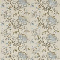 Angelique Fabric - Wedgewood/Sable