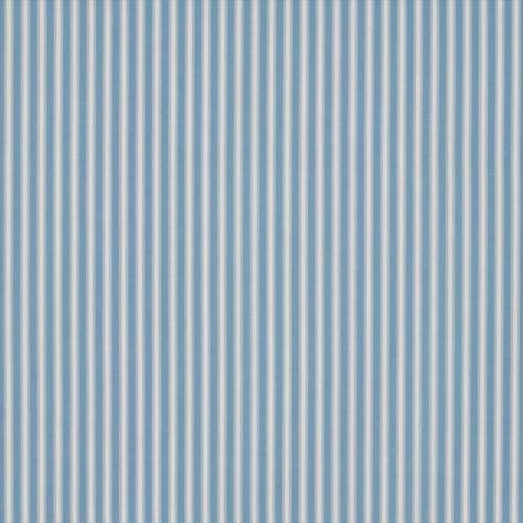 Curtains In Tiger Stripe Print Fabric Blue Ivory