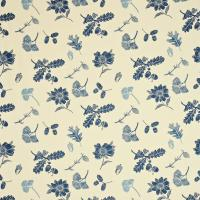 Sweet Chestnut Fabric - Indigo/Linen