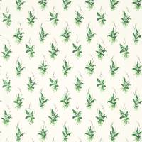 Muguet Fabric - Emerald/Ivory