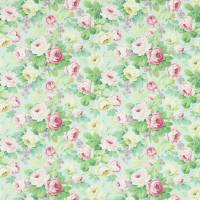 Chelsea Fabric - Duck Egg/Rose