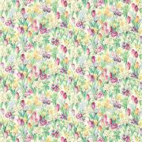 Salad Days Fabric - Celadon/Magenta