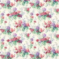 Sweet Williams Fabric - Jade/Red