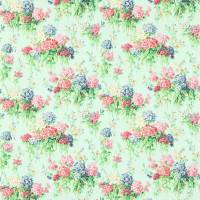 Sweet Williams Fabric - Duck Egg/Pink